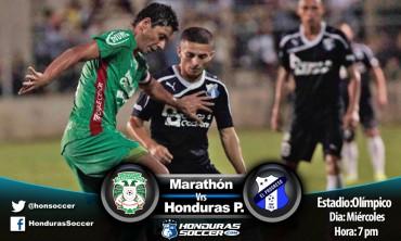Marathón y Honduras Progreso se juegan un choque de clasificación