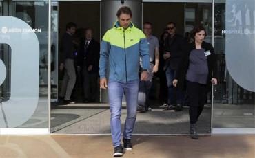 Rafa Nadal abandonó hospital tras operación