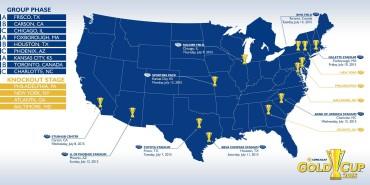 CONCACAF anuncio hoy las 13 ciudades que le darán la bienvenida a la Copa Oro