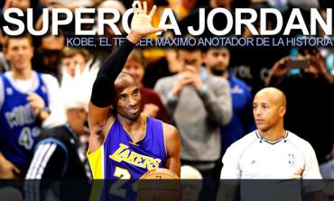 Kobe superó a Jordan como 3er máximo anotador