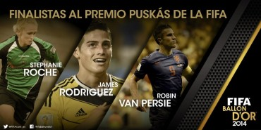 Los tres finalistas del premio Puskas 2014