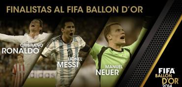 Messi, 'CR7' y Neuer, por el Balón de Oro