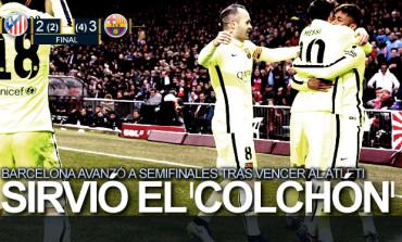 Barcelona elimina al Atlético de Madrid en cuartos de la Copa del Rey