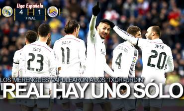 Real Madrid comienza a retomar el fútbol y golea a la Real Sociedad