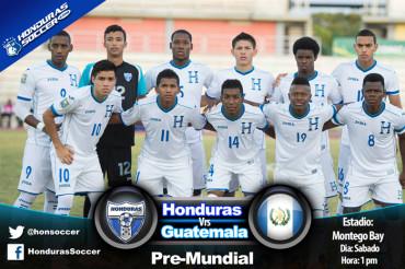 Sub-20 de Honduras por su boleto a la Copa del Mundo en Nueva Zelanda