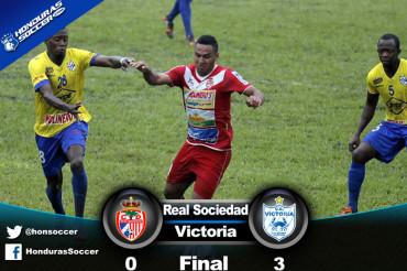 Victoria saca tres puntos de Oro venciendo en Tocoa a la Real Sociedad
