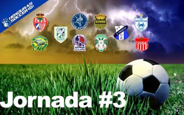La Jornada #3 de la Liga Nacional se jugara el día Sábado