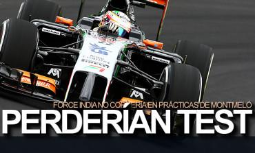 Force India perdería entrenamientos en Montmeló
