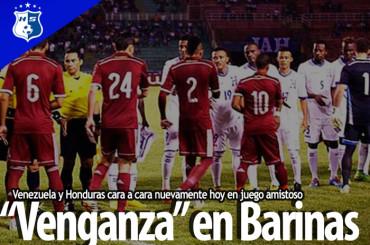Venezuela y Honduras cara a cara nuevamente hoy en juego amistoso