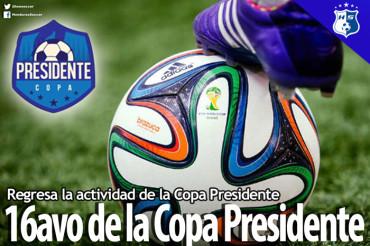 Hoy arrancan los emocionantes 16avo de la Copa Presidente