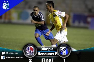 Olimpia sigue su racha de triunfos y vence al Honduras Progreso