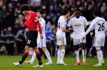 """Swansea remonta y aleja al United del sueño de la """"Champions"""""""