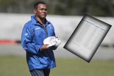 José Valladares da listado final de 20 jugadores para el Pre-Mundial Sub-17