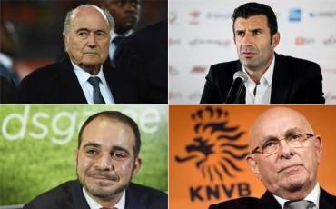 Admitidas las candidaturas de Blatter, Figo, Al Hussein y Van Praag
