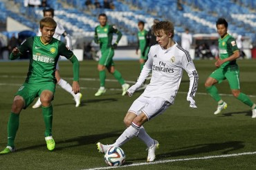 Odegaard ya jugó con el Real Madrid Castilla