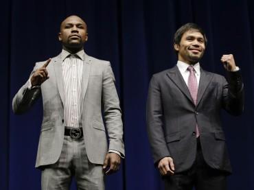 Manny Pacquiao y Floyd Mayweather se miraron a los ojos