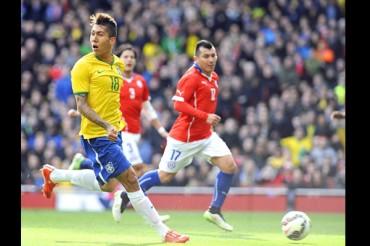 Brasil venció por la mínima a Chile en duelo poco amistoso