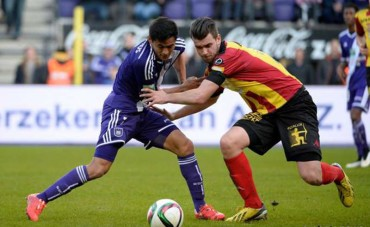 El Anderlecht de Andy Najar esta a un punto del líder Brujas de Belgica