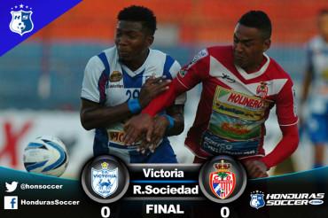 El Victoria y Real Sociedad no se hacen nada en la Ceiba
