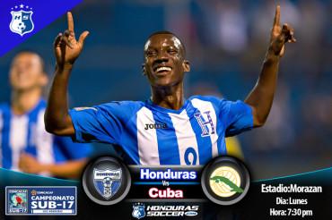 La Selección Sub17 de Honduras se mide hoy a Cuba
