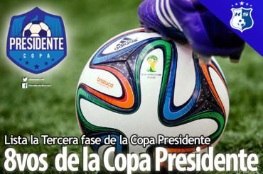 Listos los cruces de los 8vos de final de la Copa Presidente
