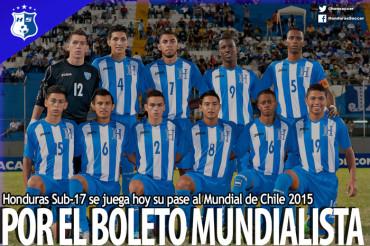 Honduras Sub-17 se juega hoy su pase al Mundial de Chile 2015