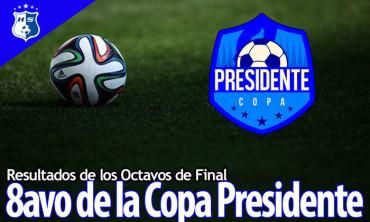 Resultados de los octavos de final de Copa Presidente