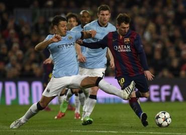 Demichelis lesionó a Messi en el Barça-City