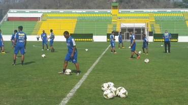 La Selección olímpica Sub-23 inició hoy sus trabajos en Comayagua
