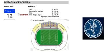Motagua pone a la venta la boletería electrónica para el derbi ante Olimpia
