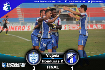 Triplete de Andino da triunfo al Victoria ante el Honduras Progreso