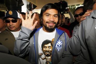 Manny Pacquio arribó antes a Las Vegas