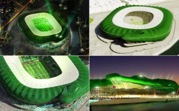 Así será el estadio del Bursaspor turco con forma de cocodrilo