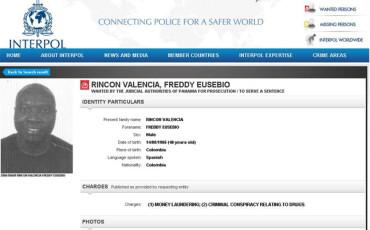 Interpol reactiva la orden de captura de Freddy Rincón