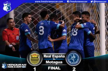 Motagua vence al Real España y le complica la clasificación a la Liguilla
