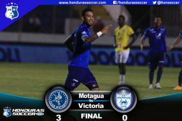 Motagua sigue volando muy alto al vencer al Victoria en Tegucigalpa
