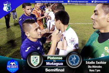 Platense a dar el primer golpe al Motagua en semifinal de la Copa Presidente