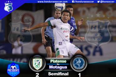 Platense venció al Motagua en la ida de la semifinal de la Copa Presidente