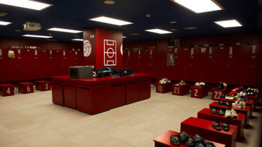 10 vestuarios increíbles de grandes equipos de fútbol