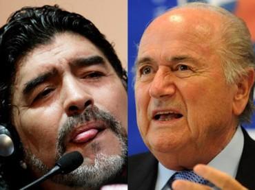 """Maradona: """"Blatter es un dictador, un incompetente y un mafioso"""""""