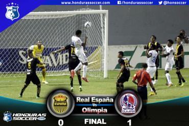 Olimpia vence al Real España en el partido de ida de la semifinal