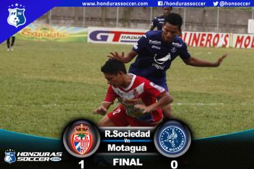 Motagua pierde el liderato al caer ante la Real Sociedad en Tocoa