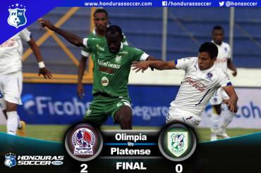 Olimpia derrota al Platense y se queda con el liderato de la Liga