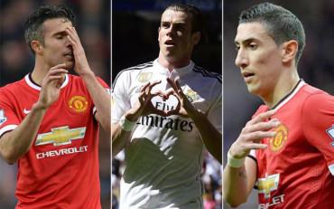 Van Persie y Di María, la llave de Van Gaal para fichar a Bale