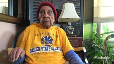 Los Warriors invitan al 'game 1' a una anciana de 105 años