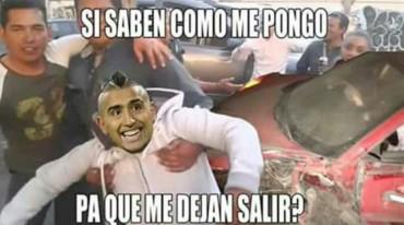 Los 'memes' del accidente de Arturo Vidal con su Ferrari