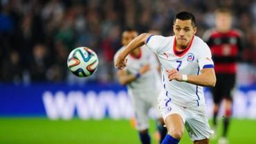 Alexis y Vidal lideran la lista definitiva de Chile
