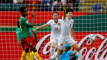 La selección de Camerún no pudo contra su similar de China