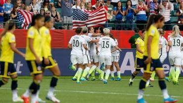 Estados Unidos se impuso a Colombia y esta en cuartos de final
