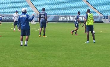 """La """"H"""" entreno este día en el Estadio del Gremio en Porto Alegre"""